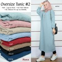 (Jumbo)Baju Tunik Wanita Muslim Terbaru Material Knit All Size