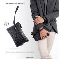 CLUTCH BAG NORIS PRIA WANITA POUCH BAG WATERPROOF AUTHENTIC HEYLOOK - BLACK