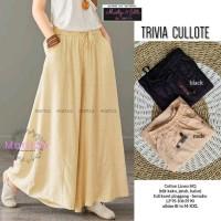 Trivia Cullote Celana Kulot Bahan Katun Tebal Twill Premium Import