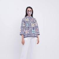 Kukila Wng T0663 Baju atasan kerja blouse batik wanita modern