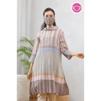 Tunik Tenun T0600Baju atasan blouse batik wanita modern nona rara - XXL