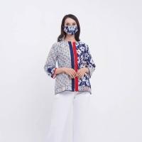 Andayu Wng T0669 Baju atasan kerja blouse batik wanita modern