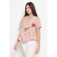 Adia Garut T0465, Baju atasan blouse batik wanita modern nona rara