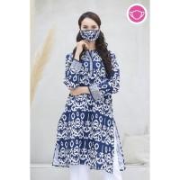 Tiara Garut T0570,Baju atasan blouse batik wanita modern Nona Rara - XS