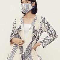 Bintari Lurik T0635,Baju atasan blouse batik wanita modern Nonarara - XXL