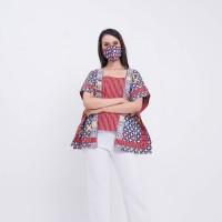 Srimpi Wng T0667 Baju atasan kerja blouse batik wanita modern