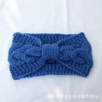 S133 Bando Rajut Wool Pita / Head Band Cantik Korea / Bando Fashion - Biru