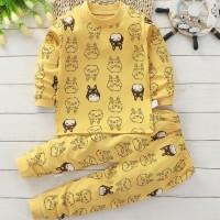 Set Baju Celana Panjang Autumn Newborn - 6 Y / Baju Bayi Baju Anak