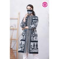 Maja Lurik T0622,Baju atasan blouse batik wanita modern nona rara