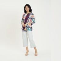 Mambo mgm T0740, Baju atasan kerja blouse batik wanita modern - 2L