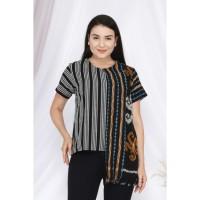 Frida Lurik T0543,Baju atasan blouse batik wanita modern nona rara - S