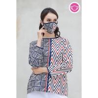 Nandia 3D T0583,Baju atasan kerja blouse batik wanita modern nona rara