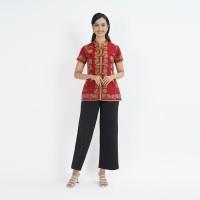 Laura CNY Encim T0573, Baju atasan kerja blouse batik wanita modern - S