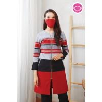 Kanya Lurik T0601,Baju atasan blouse batik wanita modern nona rara - S