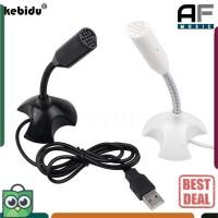 Kebidu Microphone Mic Laptop Komputer PC Mikrofon USB Podcast - M-306