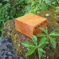 (KB-02) Wooden Cube 3x6,5x6,5 cm Kayu Solid Wood Block Kayu Kubus