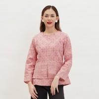 Jasmine Dobi T0446,Baju atasan blouse batik wanita modern nona rara - S