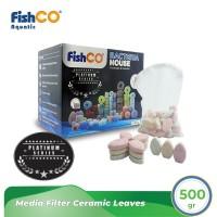 Media Filter Aquarium Ceramic Leaves Rumah Bakteri Bentuk Daun