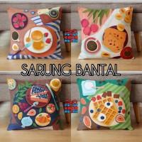 COVER SARUNG Bantal Sofa Motif Makanan Food Breakfast 40x40 cm