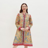 Cindy Dress D0149, Baju Dress Batik wanita modern Nona Rara Batik