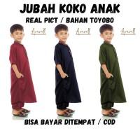 Baju Gamis Anak Laki Laki Koko Jubah Muslim Umur 1 - 13 Tahun Pakaian
