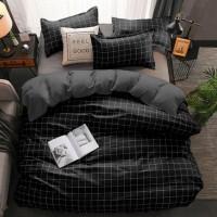 bed cover set motif kotak ukuran king 180x200/queen 160x200 grosir