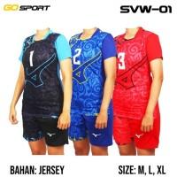 Setelan Stelan Baju Kaos Jersey Voli Volley Volly Wanita Sublim