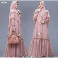 COD ADELIA SYARI Baju Wanita Pakaian Muslimah Dress Muslim Baju Gamis - MOCCA