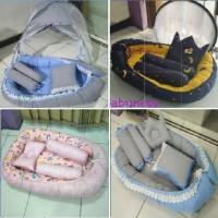 Baby Nest Kasur Kelambu Bayi Baru Set Bantal Guling PREMIUM