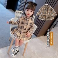 Dress Anak Lengan Panjang Child Girls Long-sleeved Korean Fashion
