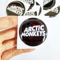 Stiker ARCTIC MONKEY Emblem Sticker Mobil Aksesoris Motor Timbul