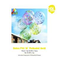 Balon PVC 18inch Polkadot - Silver