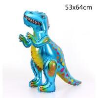 Balon Foil Tyrannosaurus Dinosaurus 3D - BIru