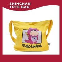 Shinchan In Dino Sling Bag Warna Kuning Bahan Kanvas Original