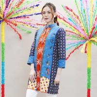 NONA RARA -Jalijali Betawi T0891,Baju atasan kerja blouse batik wanita
