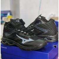 Sepatu Volly Mizuno wave lightning z5 wlz 5 mid impor full hitam