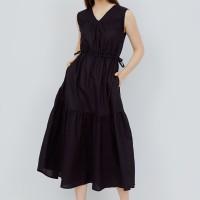 ARAMI V-neck Maxi Dress - Black