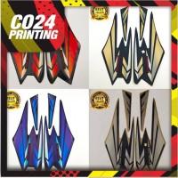 striping stiker motor yamaha rx king tahun 2002 full set kualitas