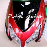 full set tameng body depan vario 110 cw karbu merah 2008 x