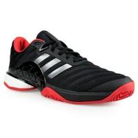 Sepatu Adidas Tenis Barricade 2018 Boost Black Red Premium Quality