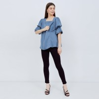 Kilia Blue Denim - Baju Ibu Hamil Dan Menyusui