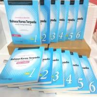 BUKU Bahasa Korea Terpadu Untuk Orang Indonesia SEPAKET Jilid 1-6