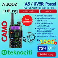 AUQOZ x Pofung A5 Camo / Color Walkie Talkie UHF VHF - HT UV5R Postel