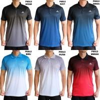 Polo Olahraga Pria P6913 Kaos Training Kerah Fitness Gym Golf Cowok - biru, l