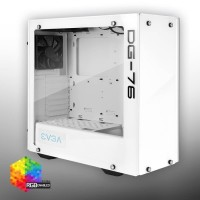 Gaming Case RGB EVGA DG-76 Alpine White Mid-Tower, Tempered Glass