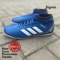 Sepatu Futsal Adidas Predator controlskin biru sport gerigi MURAH