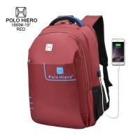 (BF) Tas Polo Hiero 1869-19 Free Kabel Sambung USB& Rain Cover - Red