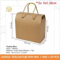 Box Toples Kue Kering Packaging Kotak Cookies Kemasan | TB06 Brown