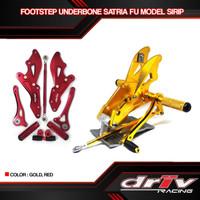 Foot Step Underbone satria Fu 150 cnc red gold variasi motor