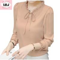Baju atasan wanita blouse korean style blouse lengan panjang import